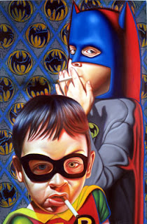 BABY BATMAN AND ROBIN SMOKING