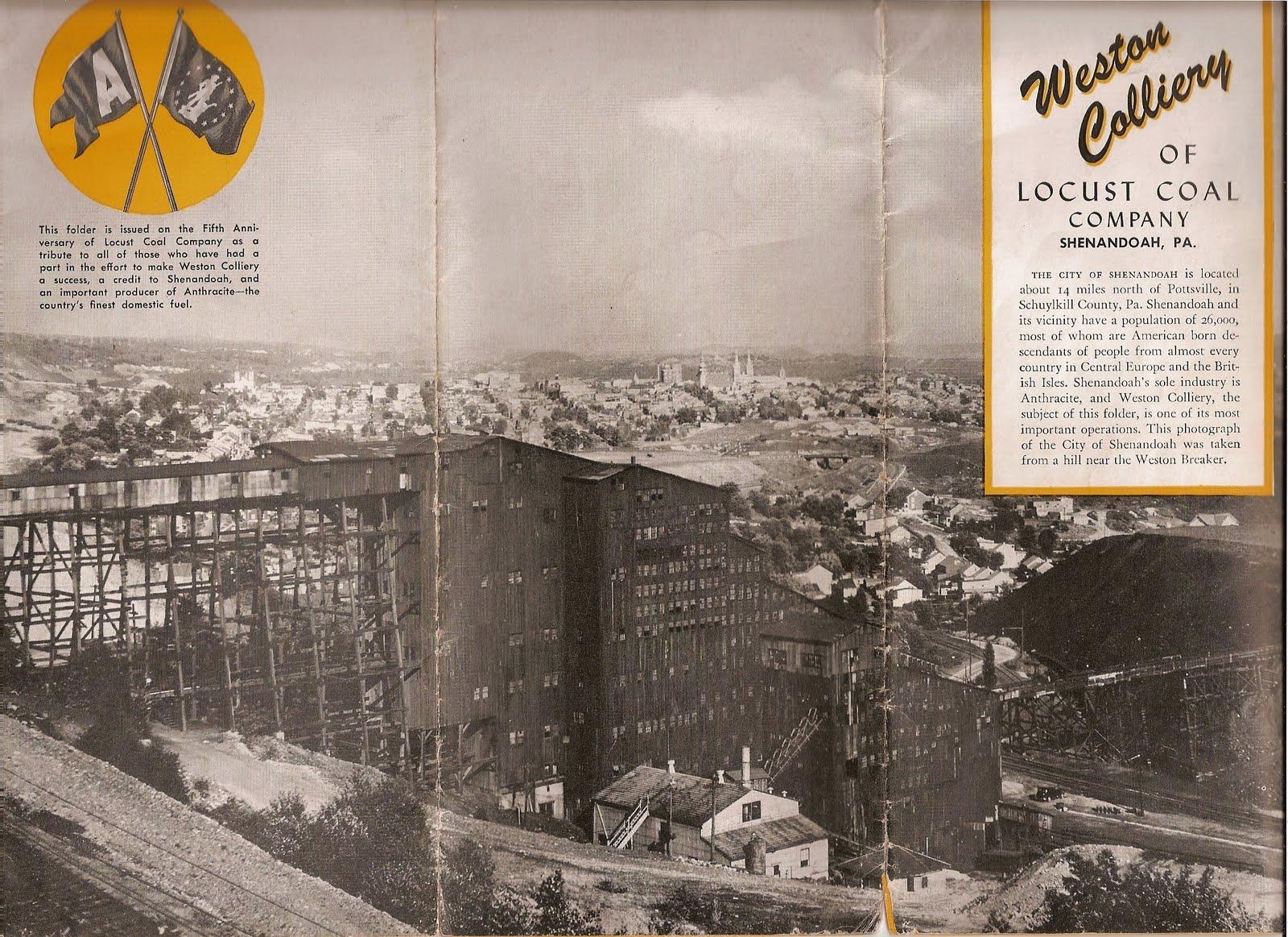 Coal Region History Chronicles The Weston Colliery