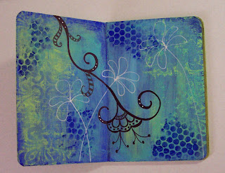 altered board book painted
