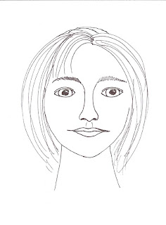 sketch drawing face female girl