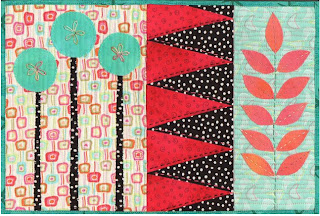 fabric quilt art collage