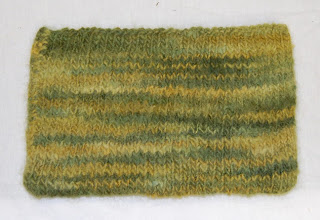 knit knitted felted pouch