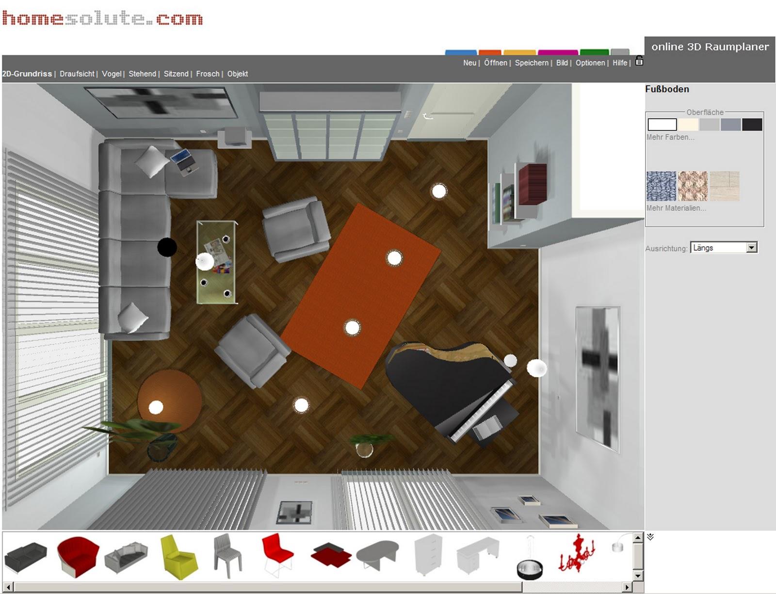 ratgeber wohnen und dekorieren kostenloser raumplaner. Black Bedroom Furniture Sets. Home Design Ideas