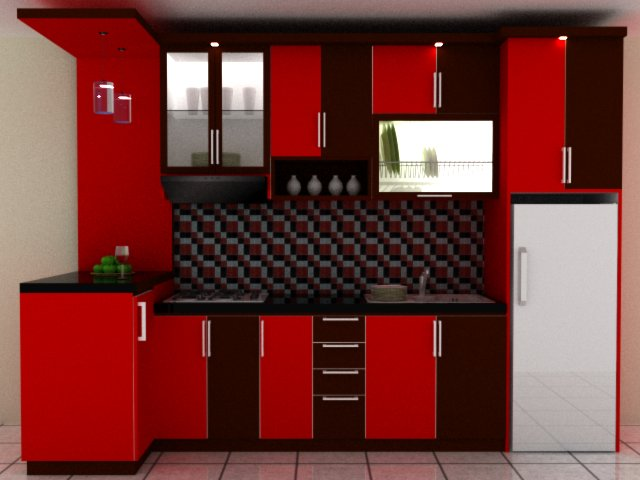 Harga Kitchen Set Kitchen Set Hitam Orange Dengan Mini Bar