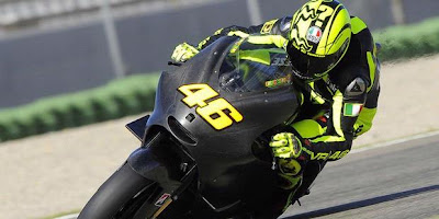 Valentino Rossi, ahead of the first test with the Ducati