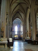 Interior of St Wenceslas' cathedral, Olomouc