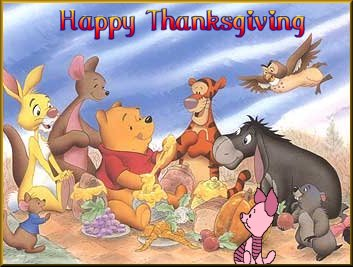 Disney Characters: Winnie the Poo Happy Thanksgiving
