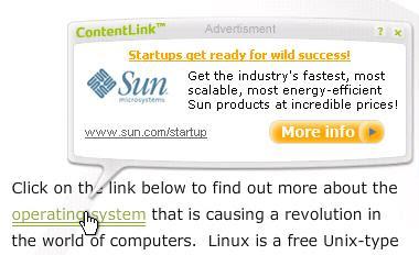 Sample Kontera In-Text ad
