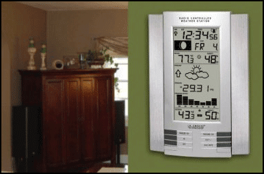 Atomic Clock with Weather Station Features