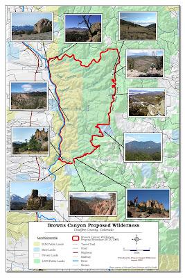 Browns Canyon Map : browns, canyon, Browns, Canyon, Wilderness:, History