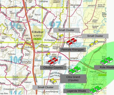 Map Kota Wisata Cibubur