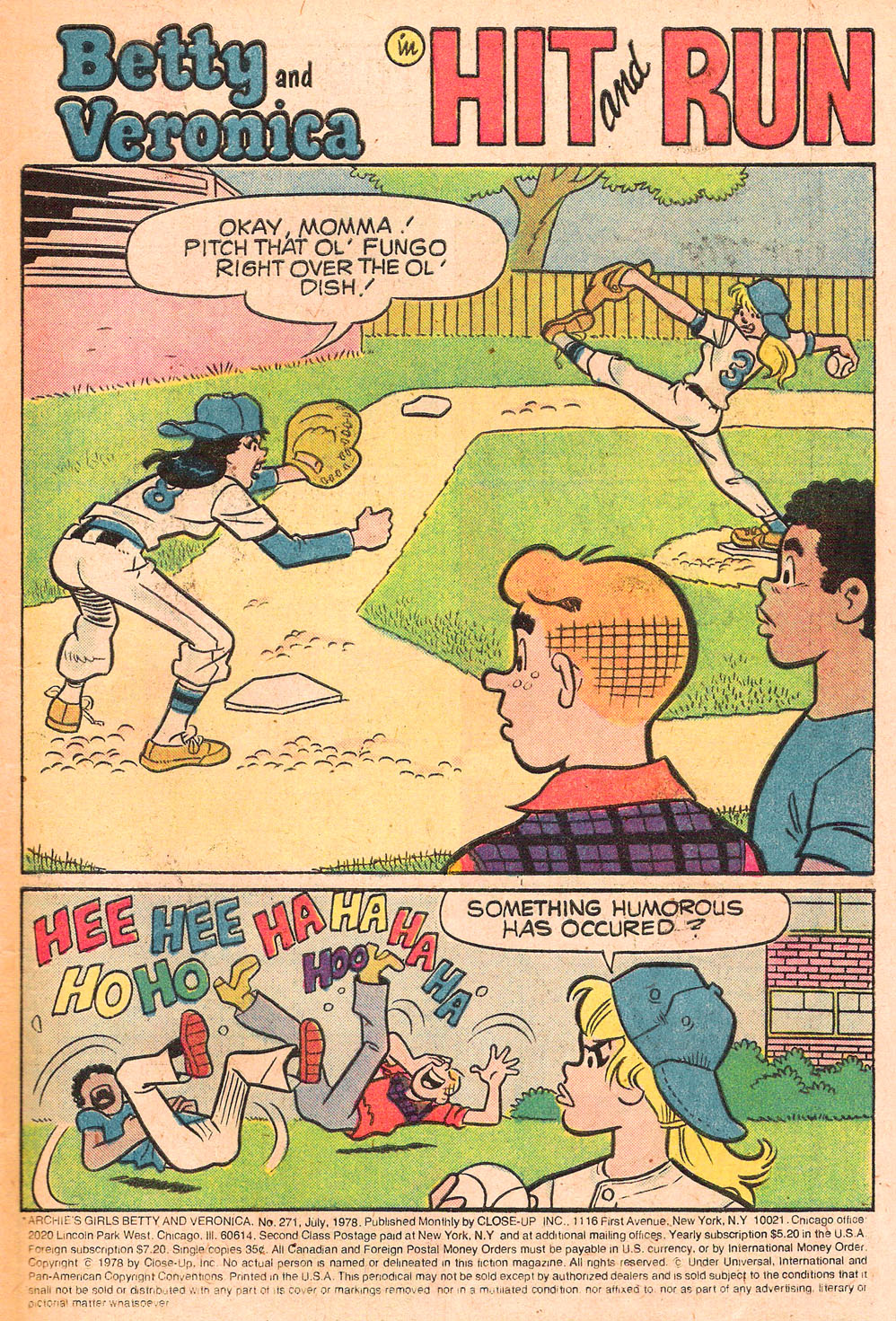 Read online Archie's Girls Betty and Veronica comic -  Issue #271 - 3