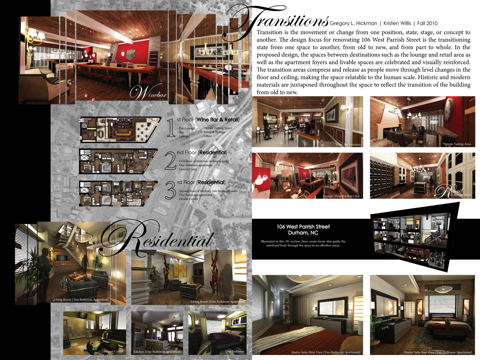 Greg Hickman Designs: Presentation Board For Taster's Wine Bar