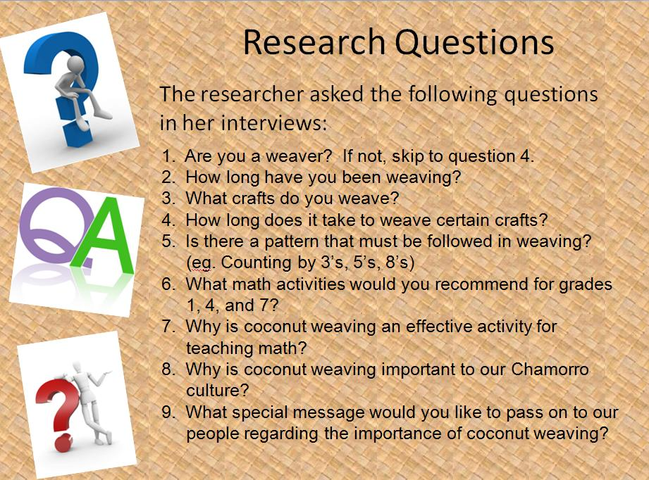What is a thesis research question