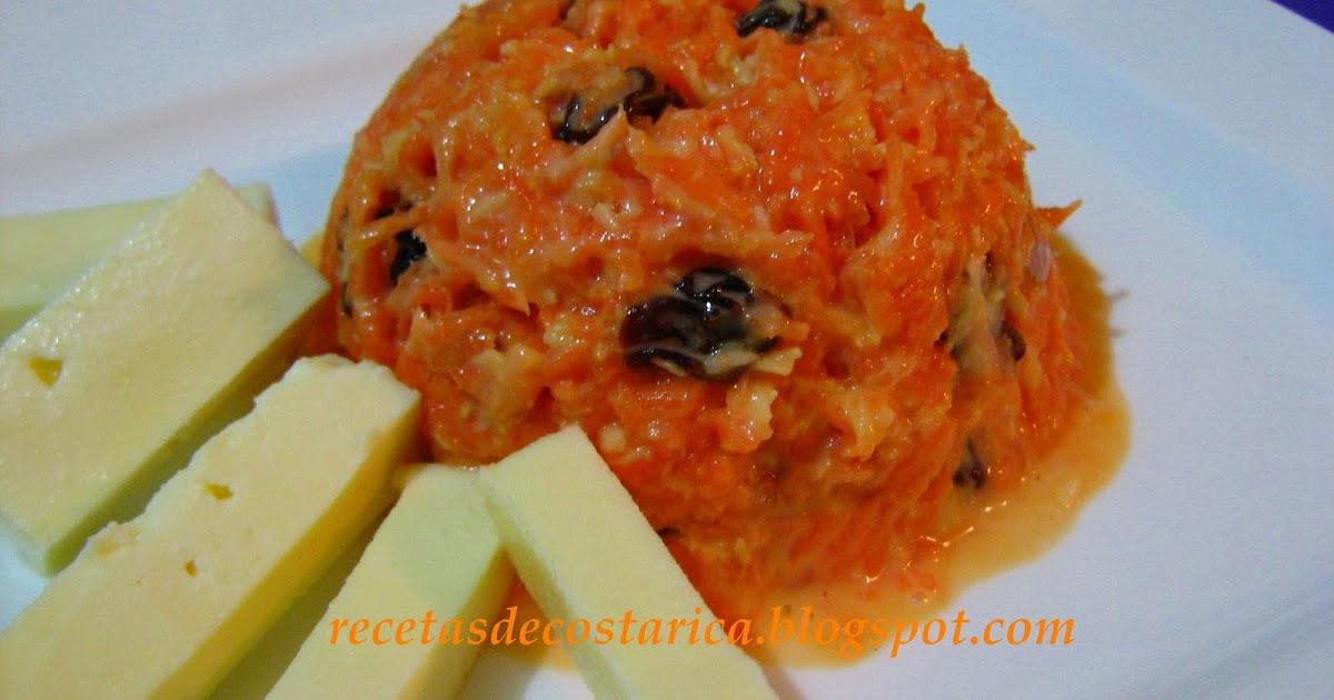 Cocina costarricense ensalada dulce de zanahoria - Dulce de zanahoria ...