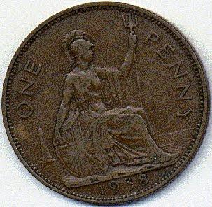 1938 British penny