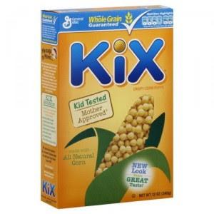 kix cereal box
