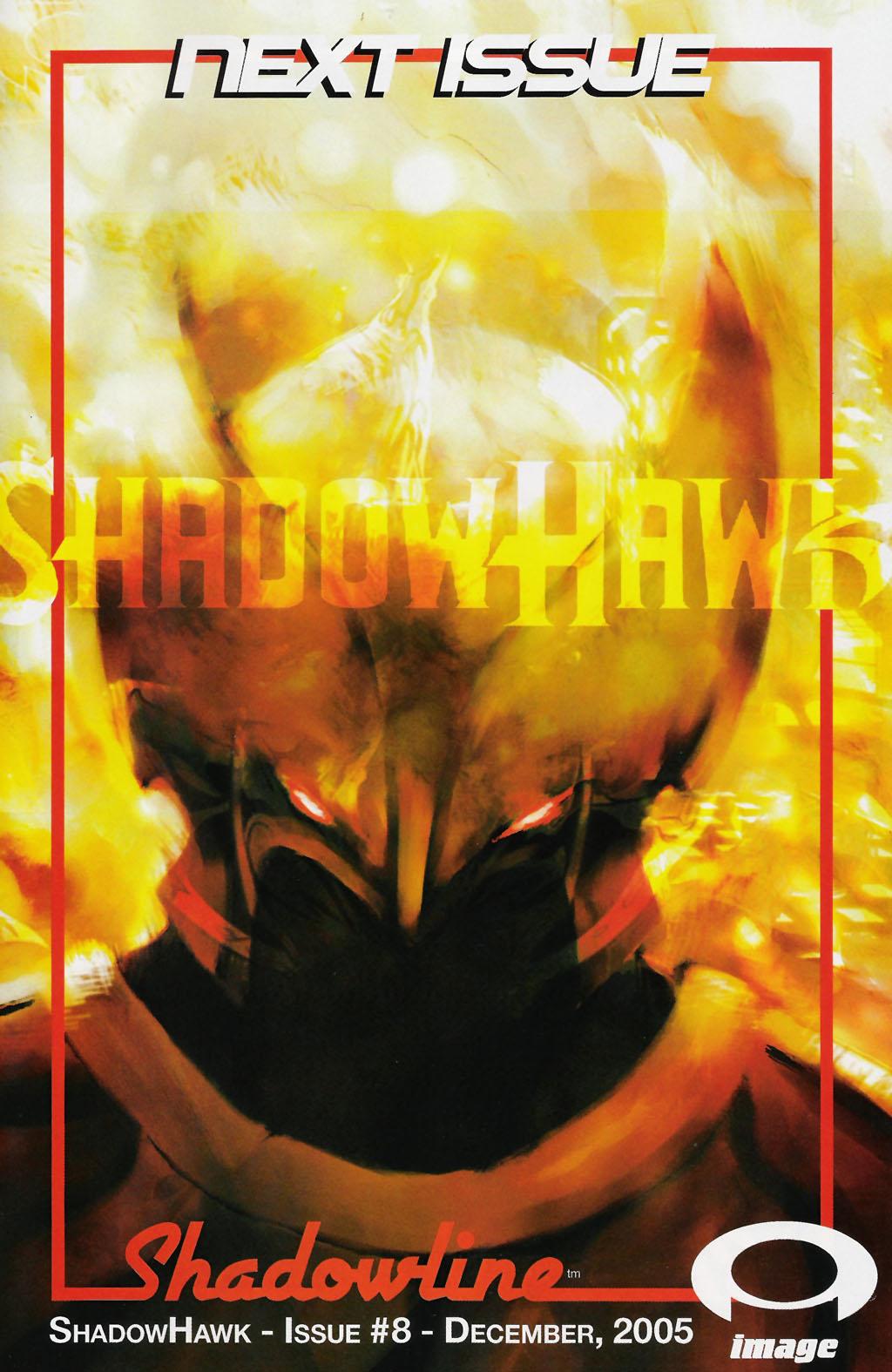 Read online ShadowHawk (2005) comic -  Issue #7 - 25