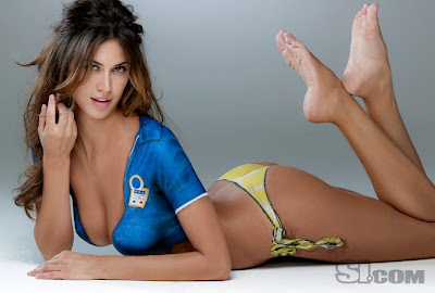 si swimsuit body paint uncensored