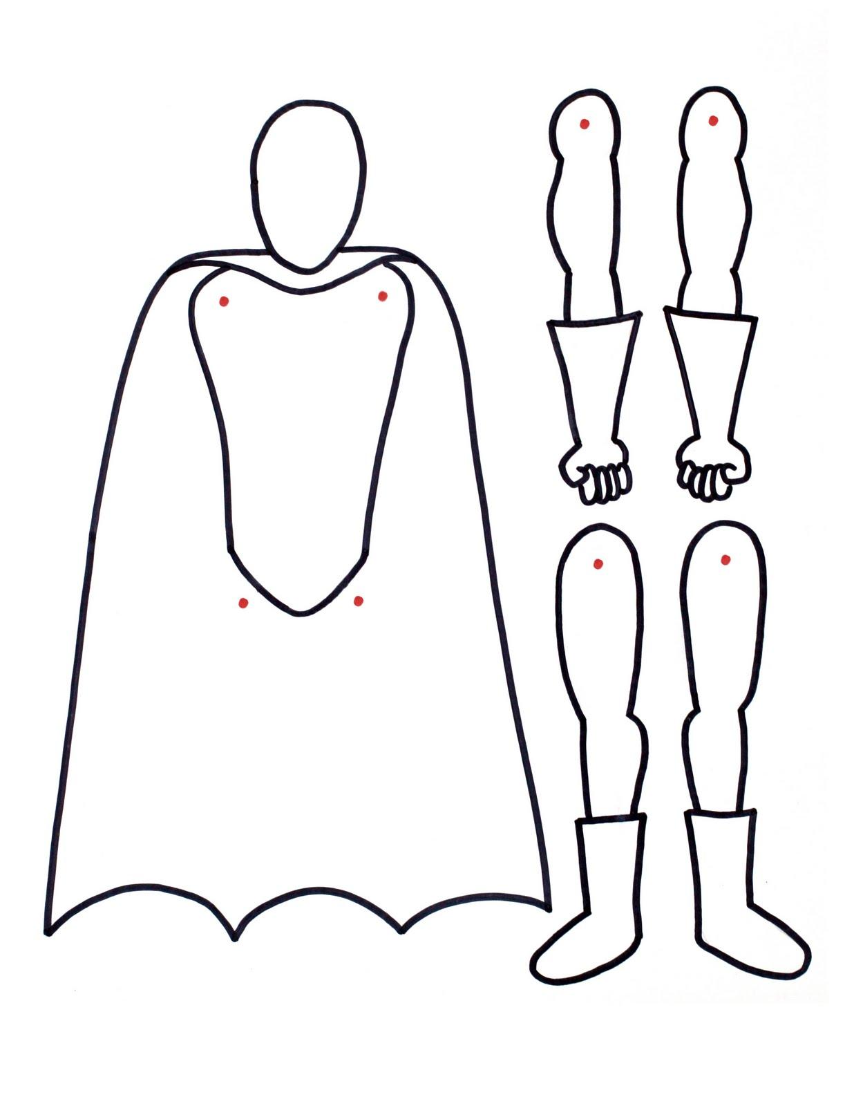 superhero boy outline drawing www