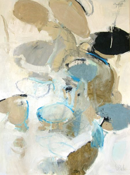 Meredith Pardue abstract painting with pods