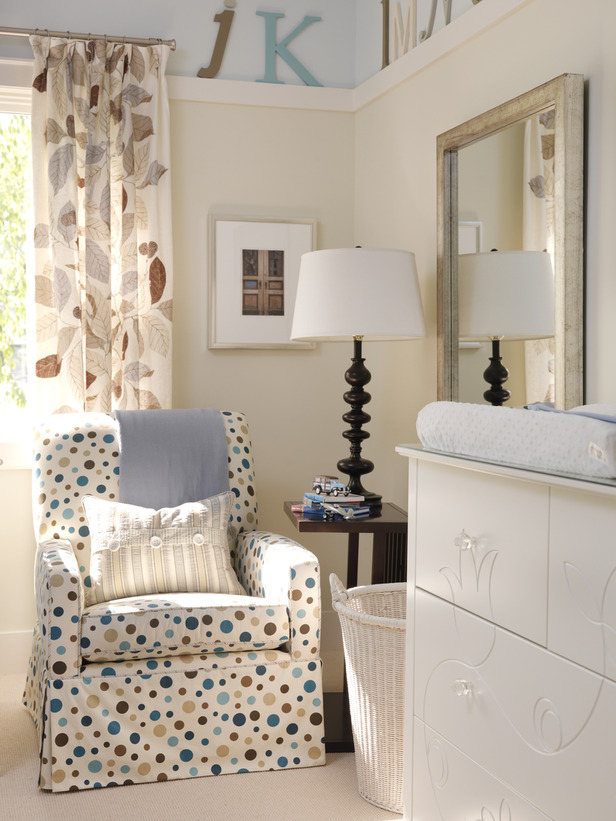 midcentury modern design in a nursery by Sarah Richardson