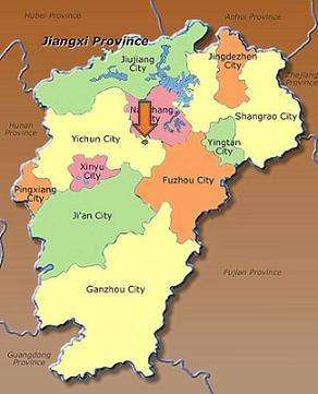 Con El Corazón En China Fengcheng City SWI Jiangxi - Fengcheng map