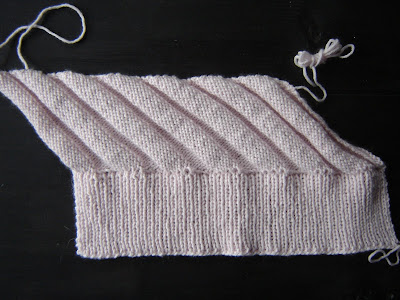 It is knit by increasing on one end and decreasing on the other. a08967da1478
