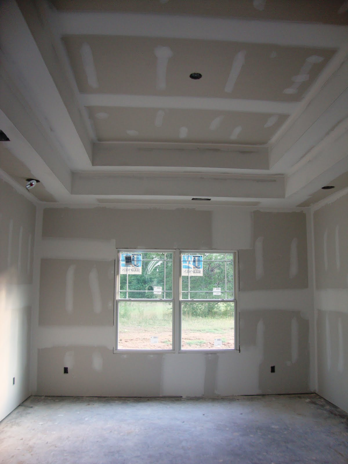 Home Building Project Drywall Lighting And Furniture
