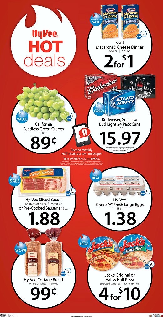 hy vee hot deals ad