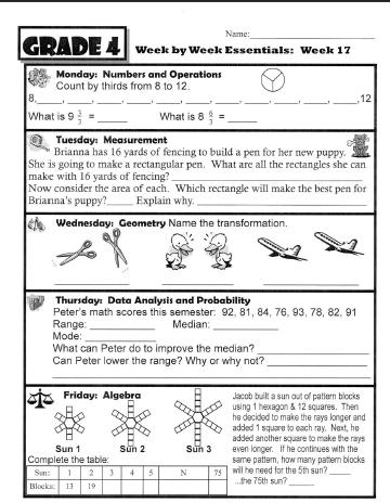 Number Names Worksheets free maths worksheets for class 4 : Grade 4 Math Review Worksheets - Coffemix