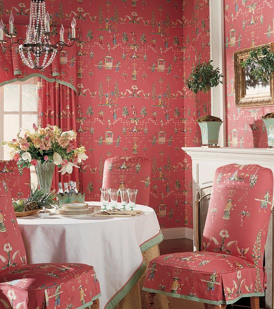 Looking For High End Chinoiserie Fabrics And Wallpaper Without The Huge Price Tag My Favorite Source Is Thibaut Our Pink Valentine S Day