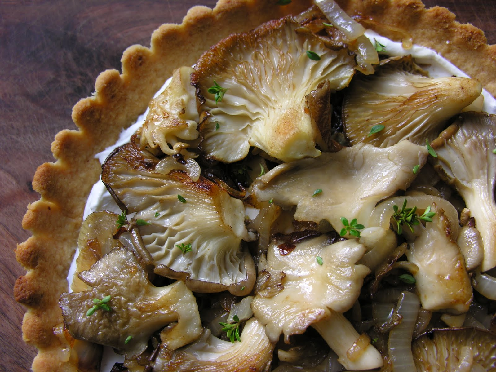 Girl In An Apron: Herbed Chèvre and Oyster Mushroom Tart ...