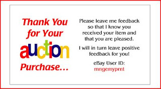 Really Simple Business Ideas Ebay Thank You Card Template