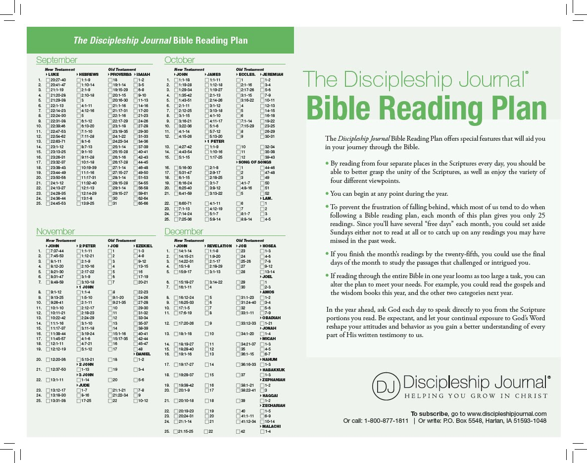 one year bible reading plan and new testament - 28 images ...