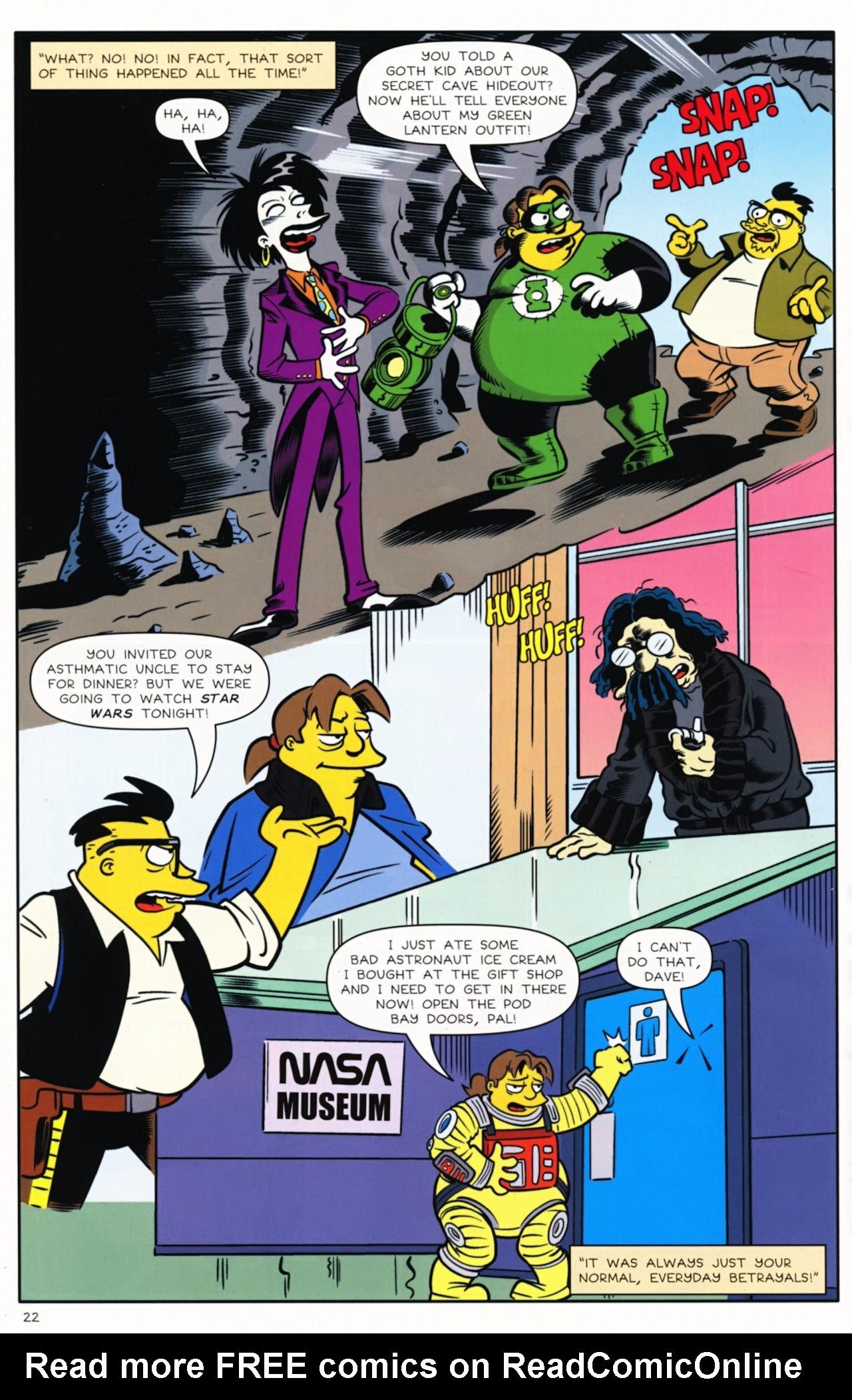 Read online Bongo Comics presents Comic Book Guy: The Comic Book comic -  Issue #5 - 24