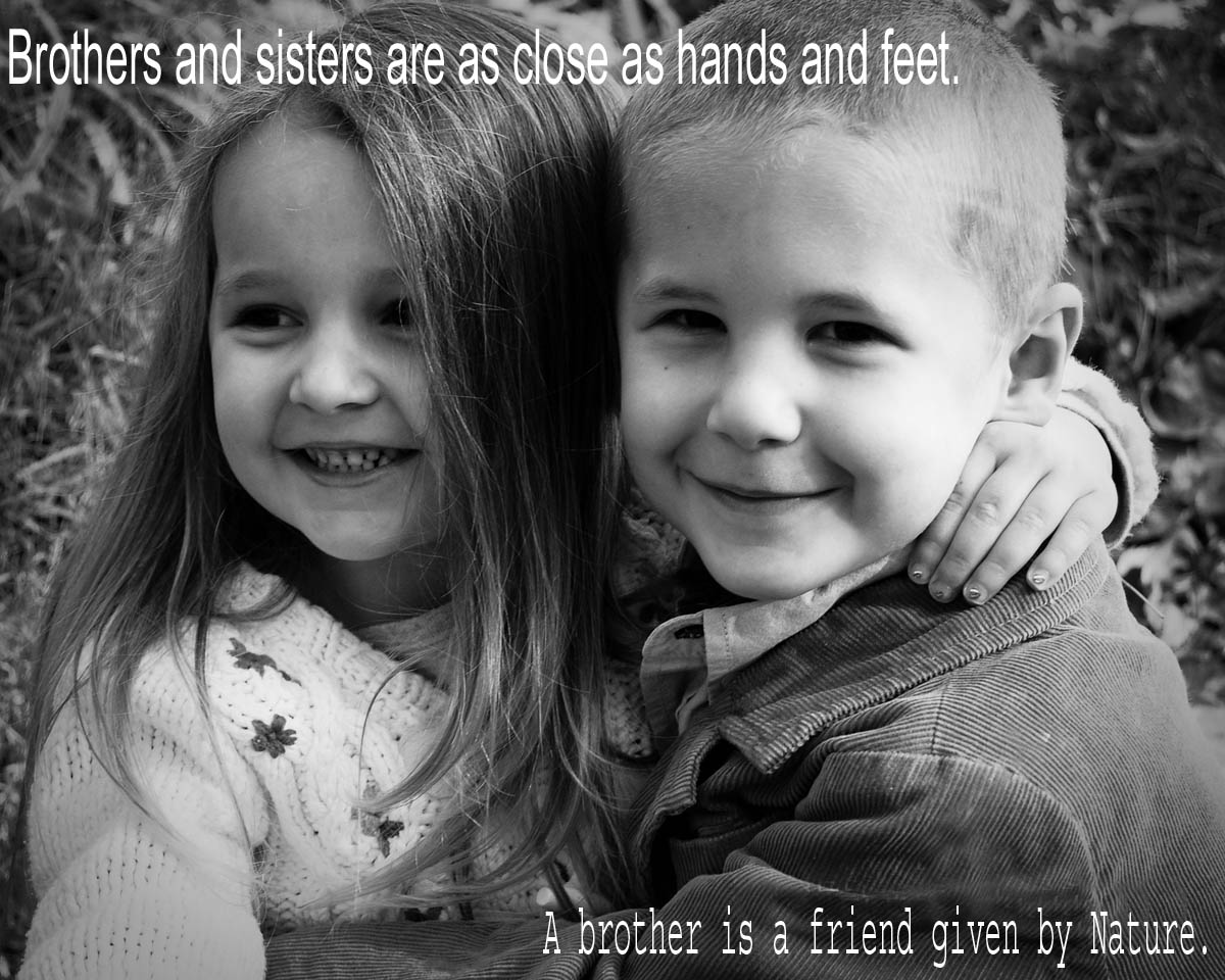 Nice quotes on brother and sister-1834