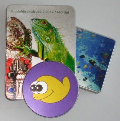 Digitaldruck auf Blechdosen 2880 x 1440 dpi