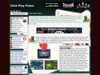 Play Real Poker Online at Clickplaypoker.com