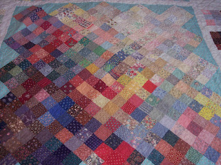 simple square blocks in a color quilt