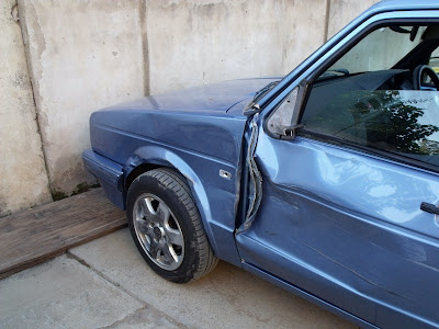 VW Citi Golf after wreck Mount Frere East Cape South Africa