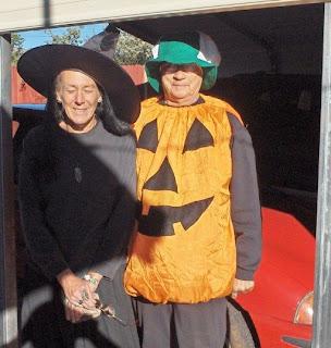 Gaelyn & friend dressed for Halloween Yarnell Arizona