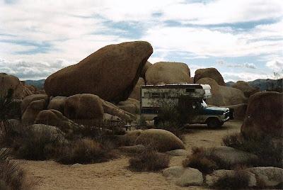 Camper in Joshua National Park California
