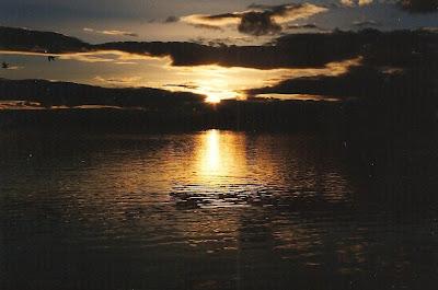 Sunset Salton Sea California