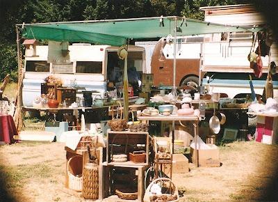 Flea market set up Carson Washington