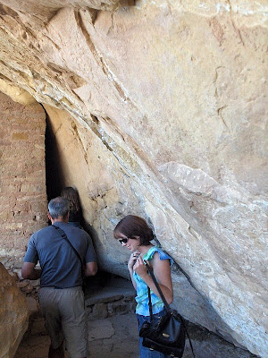 Entering Balcony House Mesa Verde National Park Colorado