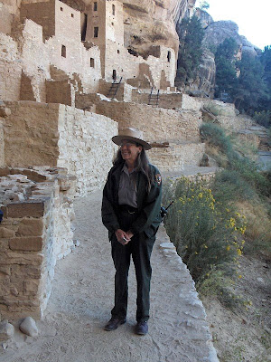 Ranger Gaelyn at Cliff Palace Mesa Verde National Park Colorado
