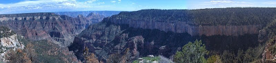 Roaring Springs and Bright Angel Canyons from North Rim Grand Canyon National Park Arizona