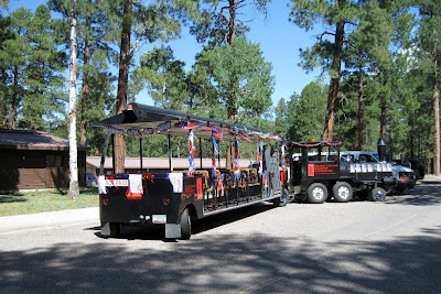 Forever Resorts train 4th of July North Rim Grand Canyon National Park Arizona