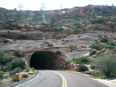 First tunnel Zion National Park Utah